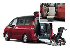 福祉・介護車両カーリース福祉・介護車両 日産 セレナ スロープ 助手席スライドアップシート車