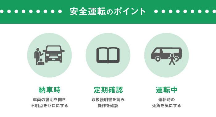 安全運転のポイント